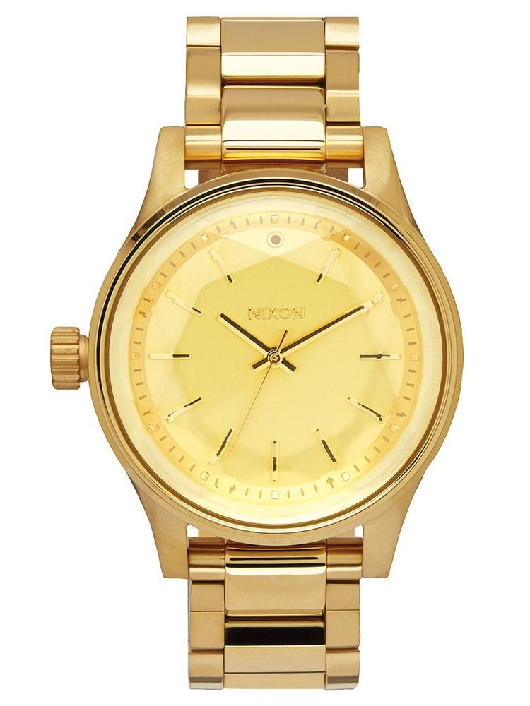 A409_1502 zegarek damski złoty Nixon Facet 38