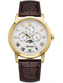 A8134.1233QF adriatica męski zegarek na pasku skórzanym