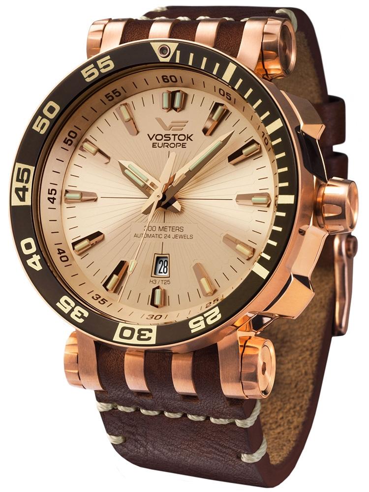 NH35A-575B281 VOSTOK EUROPE Energia 3 męski zegarek na pasku skórzanym