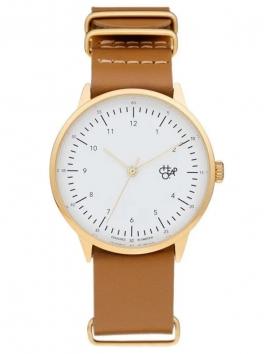 zegarek męski CHEAPO Harold Gold White Brown