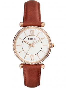 ES4428 Fossil Carlie damski zegarek na pasku skórzanym