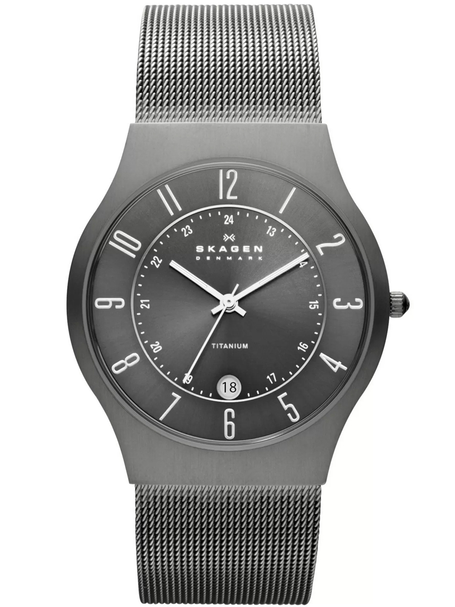 233XLTTM SKAGEN Steel męski zegarek na bransolecie