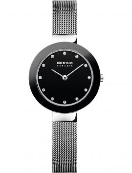 11429-002 BERING Ceramic damski zegarek na bransolecie meshowej