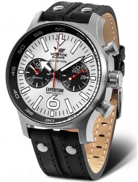 6S21-595A642 VOSTOK EUROPE Expedition North Pole 1 sportowy zegarek męski na pasku skórzanym