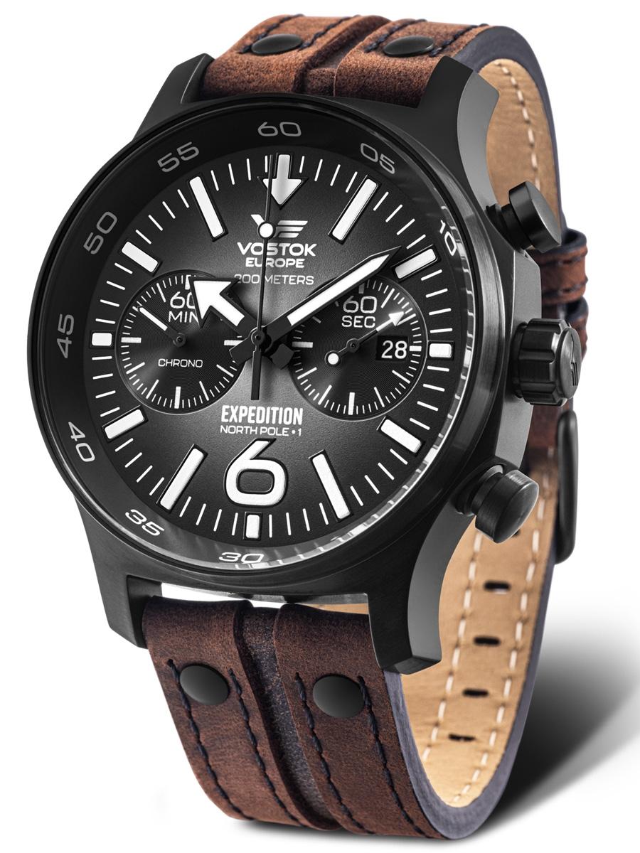 6S21-595C643 VOSTOK EUROPE Expedition North Pole 1 męski zegarek kwarcowy na pasku skórzanym