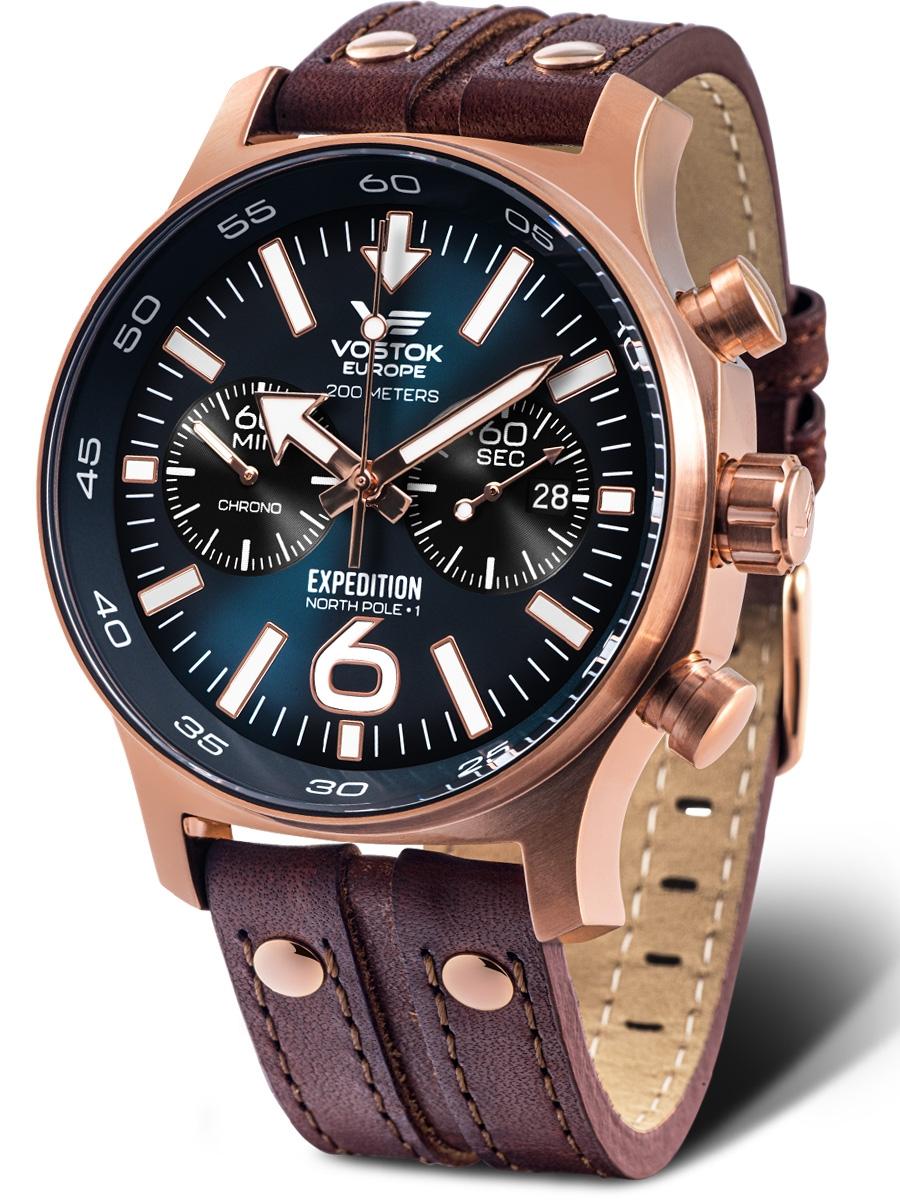 6S21-595B645 VOSTOK EUROPE Expedition North Pole 1 męski zegarek kwarcowy na pasku skórzanym