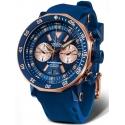 6S21-620E631 VOSTOK EUROPE wodoszczelny zegarek na pasku silikonowym