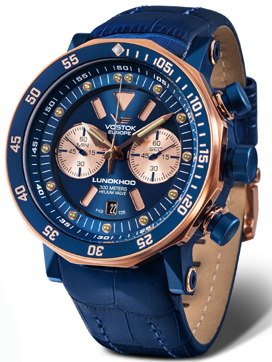 6S21-620E631 VOSTOK EUROPE męski zegarek na pasku skórzanym