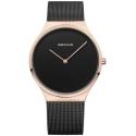 12138-166 BERING Classic czarny zegarek damski na bransolecie