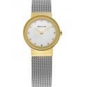 10126-001 BERING Classic damski zegarek na bransolecie meshowej