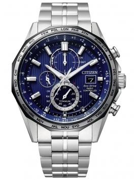 AT8218-81L CITIZEN Radio Controlled Titanium męski zegarek na bransolecie