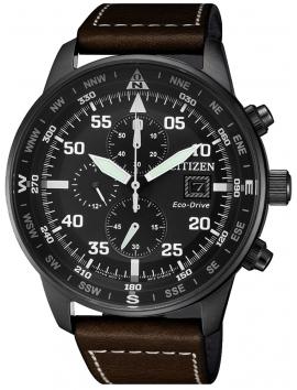 CA0695-17E CITIZEN Chronograf męski zegarek na pasku skórzanym