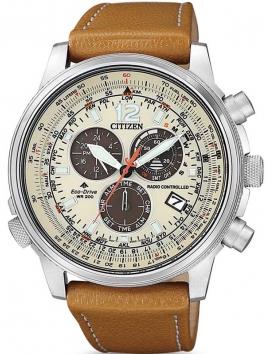 CB5860-35X CITIZEN Radio Controlled męski zegarek na pasku skórzanym