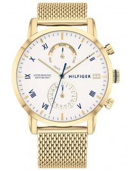 TOMMY HILFIGER 1710403 złoty męski zegarek na bransolecie