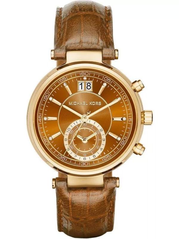 MICHAEL KORS MK2424 damski zegarek na pasku skórzanym