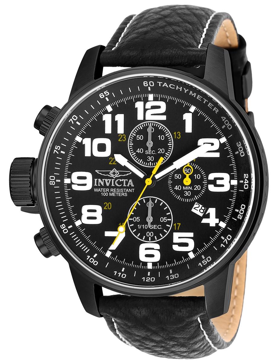INVICTA FORCE 3332 męski zegarek na pasku skórzanym