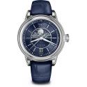 V.1.33.0.255.4 AVIATOR Swiss Made Moon Flight damski zegarek na pasku skórzanym