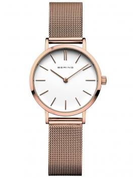 14129-366 BERING Classic damski zegarek różowe złoto
