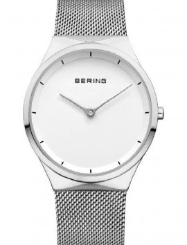 12138-004 BERING Classic damski zegarek na bransolecie meshowej