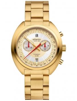70467.45.35 ATLANTIC Timeroy CS Chrono złoty zegarek męski na bransolecie