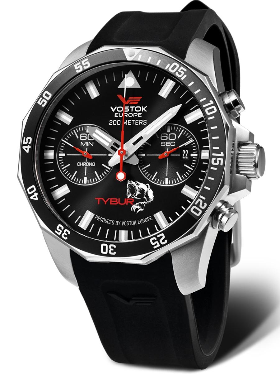 6S21-225A436 VOSTOK EUROPE TYBUR sportowy zegarek męski