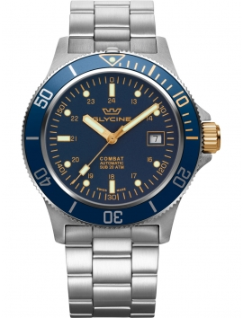 GL0271 Glycine Combat SUB 42 męski zegarek na bransolecie