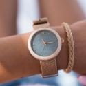 NEAT New Hoop  N067 damski zegarek z drewna