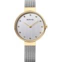 12034-010 BERING Classic damski zegarek na bransolecie meshowej