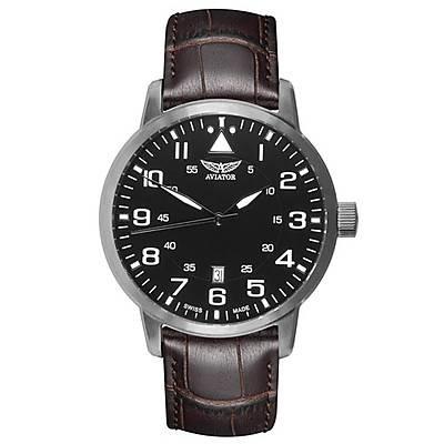 zegarek męski na skórzanym pasku