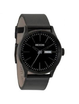 NIXON Sentry Leather All Black