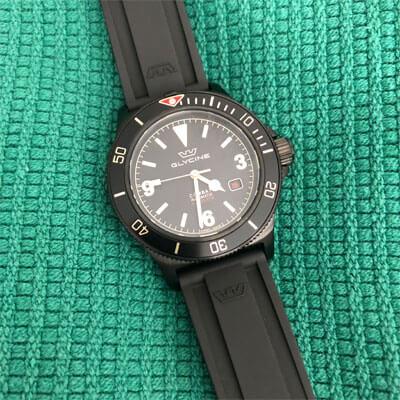 zegarek czarny męski Glycine Combat SUB 42 Vintage