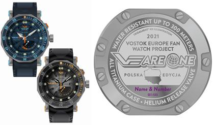 limitowany zegarek vostok europe
